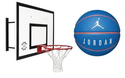 Zestaw sure shot maxi combo 542 tablica obręcz uchwyt + piłka do koszykówki jordan playground 8p