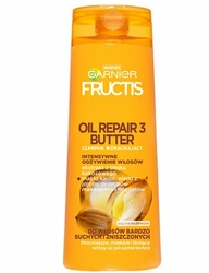 Garnier Fructis, Oleo Repair Butter, szampon wzmacniający do włosów bardzo suchych i zniszczonych, 400ml