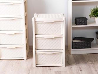 Regał szafka komoda arianna 3 szuflady kremowy