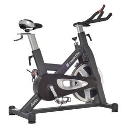 Rower spiningowy airin czarno-srebrny - insportline - czarno-srebrny