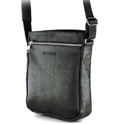 Skórzana torba męska listonoszka brodrene bl08 czarna - czarny