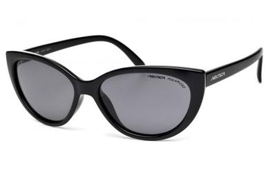 Kocie oczy okulary damskie arctica s-241 czarne z polaryzacją