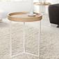 Interior space :: stolik kawowy honey 40cm biały dąb