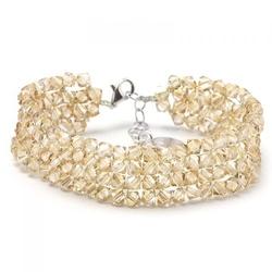 Bransoletka ślubna z kryształami swarovski 405