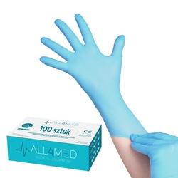 All4med jednorazowe rękawice diagnostyczne nitrylowe lazurowe s