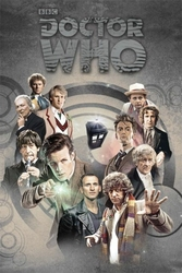 Doctor Who Doctors Through Time - plakat