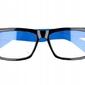 Okulary zerówki nerdy wayfarer   xl-272 czarno-niebieskie