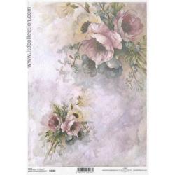 Papier ryżowy ITD A4 R1143 kwiaty