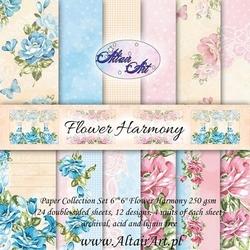 Ozdobny papier Flower Harmony 15x15 cm24szt.