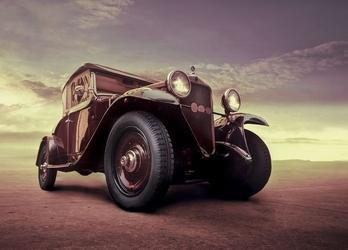 Luksusowy samochód, vintage - fototapeta