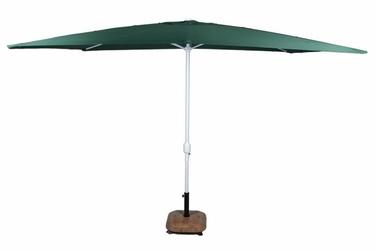 Parasol ogrodowy prostokątny z korbą zielony 2x3m