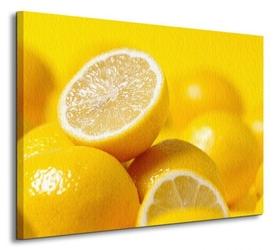 Cytryny żółciutkie - obraz na płótnie