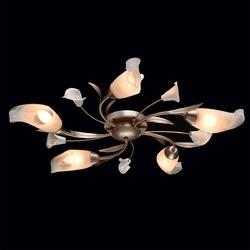 Lampa sufitowa flora kwiatowe klosze, srebrno-złota podstawa mw-light 242016205