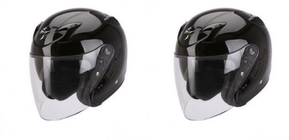 Scorpion kask otwarty exo-220 solid black xs - xxl