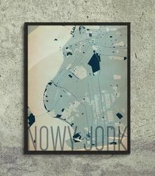 Nowy jork - artystyczna mapa