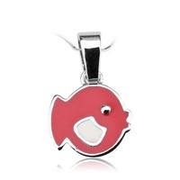 Staviori wisiorek. czerwona rybka z emalia. srebro rodowane 0,925. szerokość 11 mm.