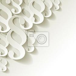 Fototapeta paragraf papier weiss ecke
