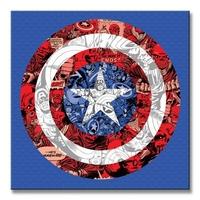 Marvel captain america shield collage - obraz na płótnie