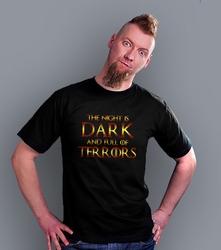 The night is dark t-shirt męski czarny s