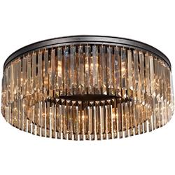 Lampa sufitowa z dużych, bursztynowych kryształów prostokątnych vitaluce ve5181-112pl
