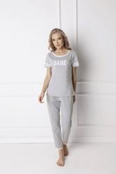 Piżama damska aruelle babe long grey