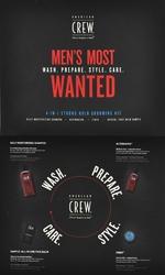 American crew mens most wanted strong hold zestaw kosmetyków dla mężczyzn