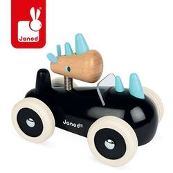 Drewniany samochód w stylu retro janod - nosorożec rony