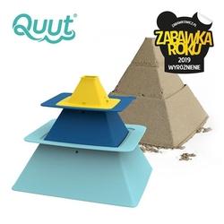Quut zestaw 3 foremek do piasku piramida pira vintage blue + deep blue + mellow yellow