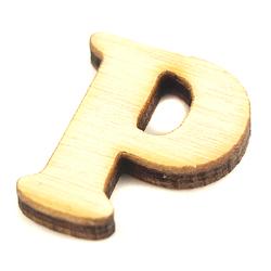 Drewniana literka do rękodzieła - P - P