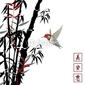 Obraz na płótnie canvas czteroczęściowy tetraptyk bambus bambusowy