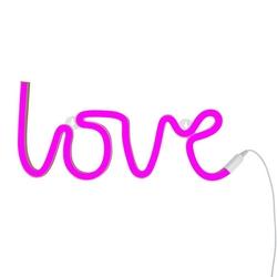Neon love pink