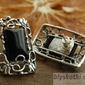 Sciliar - srebrne kolczyki z onyksem