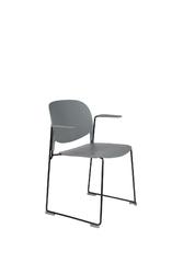 Orange line krzesło z podłokietnikami stacks szary 1200228