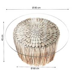 Stolik kawowy ronn okrągły drewniany