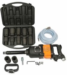 Klucz pneumatyczny udarowy bjc 1quot; 4800nm + nasadki + wąż