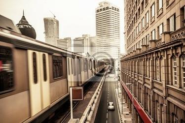Fototapeta metro train w kuala lumpur w malezji