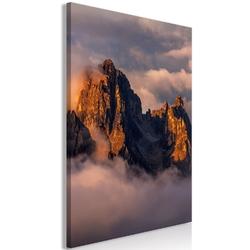 Obraz - góry w chmurach 1-częsciowy pionowy