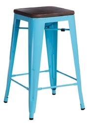 Hoker paris wood 75cm sosna orzech - niebieski