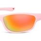 Okulary dziecięce sportowe różowe matowe lustrzane cs90d