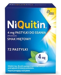 Niquitin 4mg x 72 pastylki miętowe