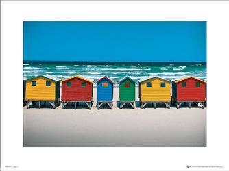 Beach huts - plakat premium