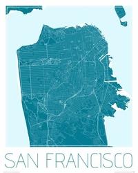 San Francisco - Niebieska mapa