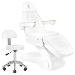 Elektryczny fotel kosmetyczny lux 273b + taboret 304 basic gratis