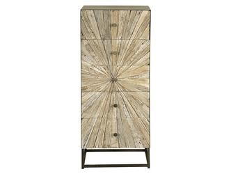 Drewniana komoda santana w stylu loftowym  wys. 110 cm