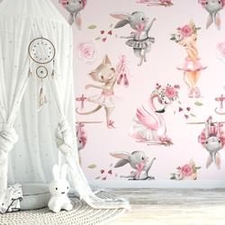 Tapeta dziecięca - lovely girls , rodzaj - próbka tapety 50x50cm