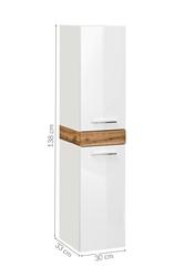 Szafka łazienkowa słupek ariva biała