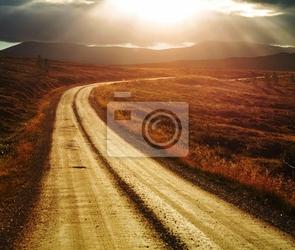 Obraz drogi w norwegii