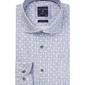 Biała koszula profuomo w geometryczny kolorowy wzór slim fit 38