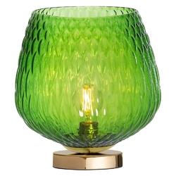 Kaspa :: lampa stołowa venus złoto-zielona