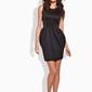 Czarna koktajlowa sukienka bombka